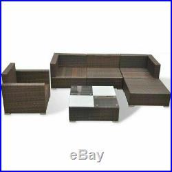 14 Piece Rattan Garden Corner Sofa Table Chair Furniture Set Grey Brown Black