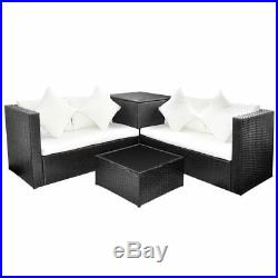 14 Pieces Garden Sofa Set Poly Rattan Table and Chairs Outdoor Patio Furniture