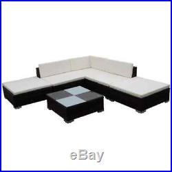 15 Pieces Corner Rattan Outdoor Garden Sofa Set Home Patio Pool Furniture Brown