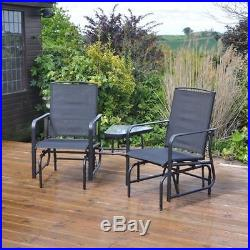 2 Seater Rocking Chair Garden Furniture Patio Rocker Love Seat Outdoor & Table