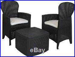 3 Piece Outdoor Patio Chair Table Lounge Garden Chair Balcony Set Furniture Set