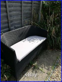 3 Piece Rattan Garden Furniture Set