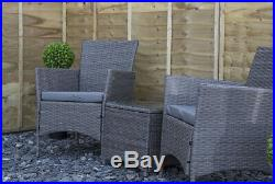 3pc Poly Rattan Garden Bistro Set Patio Furniture Set for Outdoor/Conservatory