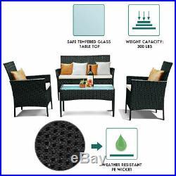 4/9pcs Ratten Garden Furniture Set Table Chair Sofa Conservatory Patio Outdoor