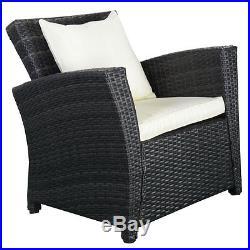4 Piece Rattan Set Outdoor Garden Patio Wicker Weave Furniture Chairs Sofa Table