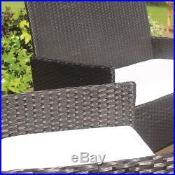 4pc Garden Patio Black Rattan Sofa Set Outdoor Furniture Conservatory Wicker