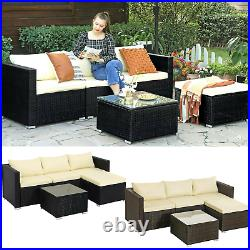 5-Piece Rattan Garden Furniture Set Corner Sofa PE Patio Furniture Outdoor Couch