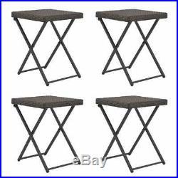 5 pcs Folding Rattan Garden Furniture Dining Table & 4 Chairs Set Outdoor Patio