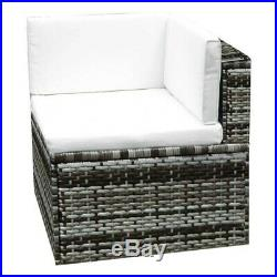 6PCS Rattan Corner Sofa Table Set Garden Patio Furniture Daybed Wicker Lounge UK