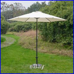 6Pcs Rattan Garden Furniture Dining Set 4 Chairs Table With Parasol Set