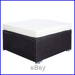 6 PC Rattan Home Furniture Garden Patio Sofa Set Wicker Aluminium Out/indoor
