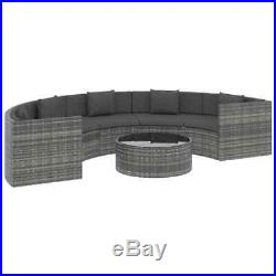 6 Piece Garden Lounge Set with Cushions Poly Rattan Corner Sofa Furniture Set