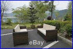 6 Seater Rattan Corner Sofa Set Home Garden Furniture Set Back Cushions 2018