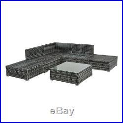 6 Seater Rattan Corner Sofa Table Set PE Wicker Garden Furniture Patio Outdoor