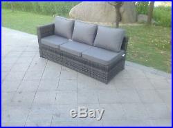 6 Seater rattan corner sofa set coffee table outdoor garden furniture Mix Grey
