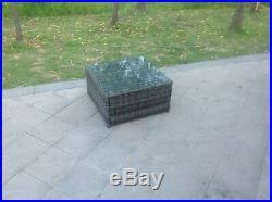 6 seater lounge rattan sofa set coffee table outdoor garden furniture grey mixed