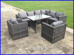 8 seater rattan corner sofa table chair furniture set outdoor garden furniture