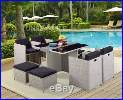 9 Piece Rattan Garden Furniture Set Choice of Colour with Cover Option