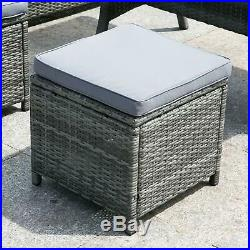 9 SEATERS RATTAN GARDEN FURNITURE Dining SET SOFA TABLE STOOL PATIO CONSERVATORY