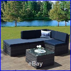 ALUMINIUM FRAME Rattan Weave Corner Sofa Set Garden Furniture Modular