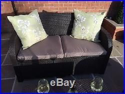 Allibert Carolina Rattan Garden Furniture Patio Set Anthracite/C Or Brown