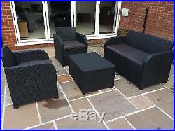 Allibert Keter Carolina Rattan Garden Furniture Set Anthracite/G or Brown