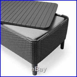 Allibert Salemo Garden Rattan Plastic Waterproof Furniture Cushion Storage Box