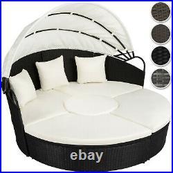 Aluminium rattan day bed garden furniture outdoor lounger sofa sun roof table ne