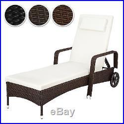 Aluminium rattan day bed sun canopy lounger recliner garden furniture patio
