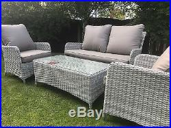 Atlanta Belize Luxury Rattan Garden Furniture Sofa Set Farzone Top Quality