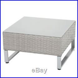 Azuma Garden Sofa Set Seville Grey Rattan 2x2 Seat Corner Table Patio Furniture