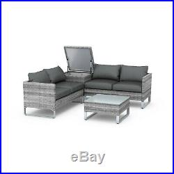 BillyOh Salerno Rattan Outdoor Garden Furniture Corner Sofa Set With Storage