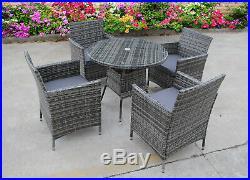 Bistro Garden Rattan Wicker Outdoor Dining Furniture Set Table Chairs 2 4 6