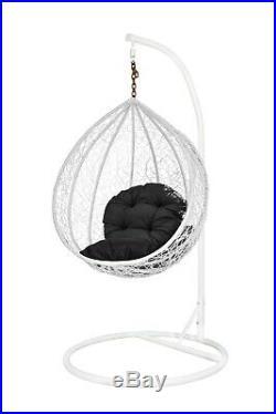 Children's Rattan Wicker Effect Swing Lounger Garden Bedroom Patio Egg Chair