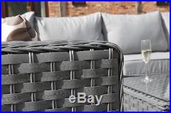 Conservatory MODULAR 8 Seater Rattan Corner Sofa Set Garden Furniture