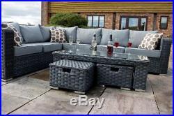 Peachy Conservatory Modular 8 Seater Rattan Corner Sofa Set Garden Machost Co Dining Chair Design Ideas Machostcouk