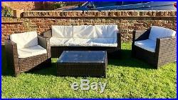 Conservatory Modular 5 Seater Rattan Sofa Set Garden Patio Furniture