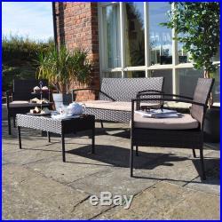 Contemporary Rattan Furniture 4 Seater Garden Patio Set