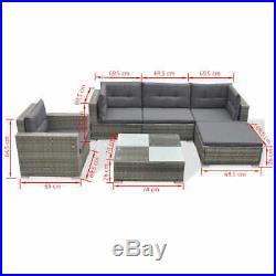 Corner Garden Sofa Lounge Set Poly Rattan Outdoor Furniture Dining Table 17 PCS