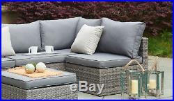 Corner Garden Sofa Rattan Furniture Outdoor Patio Lounger Set Couch Sette 4 Seat