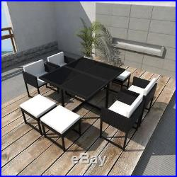 dbdd7f989b1a Cube Rattan Garden Furniture Set Chairs Sofa Table Outdoor Patio Wicker 8  Seater