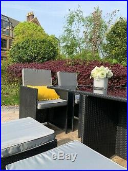 Eton Cube Rattan Garden Furniture Set Chairs Sofa Table Outdoor Patio 8 Seater