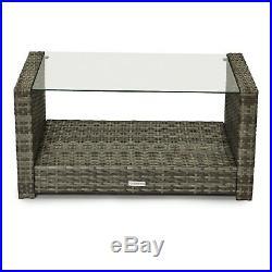 Evre Grey Roma Outdoor Garden Furniture 4 Piece Set Patio Conservatory