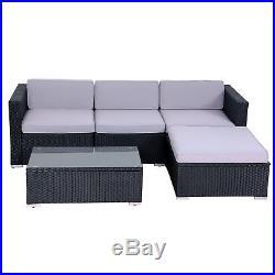 Evre Outdoor Four Person Rattan Garden Furniture Set Modular Set Patio Sofa