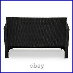 Evre Rattan 4 Piece Patio Furniture Set Outdoor Conservatory Garden Set Roma