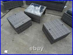 Ex Display Homebase 6 Piece Rattan Sofa Chair Table Garden Furniture Set