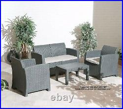 Florence Garden Furniture 4 Piece Outdoor Rattan Patio Sofa Set Chairs And Table