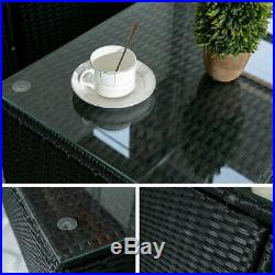 Garden Corner Rattan Sofa Set Garden Outdoor Furniture Patio Set 5 Piece Black
