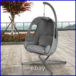 Garden Egg Chair Hanging Patio Swing Outdoor Hammock Lounger Rattan Furniture