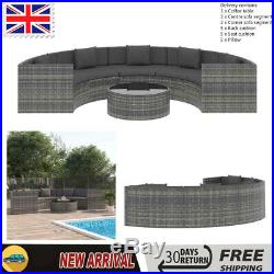 Garden Lounge Set with Cushions Poly Rattan Corner Sofa Outdoor Furniture Set UK